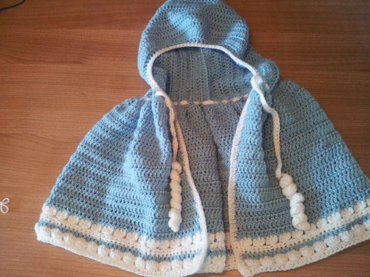 Free Crochet Pattern - Baby Cloak #free #crochet #pattern