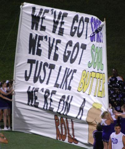 Football Run through Banners   Thread: Run through signs