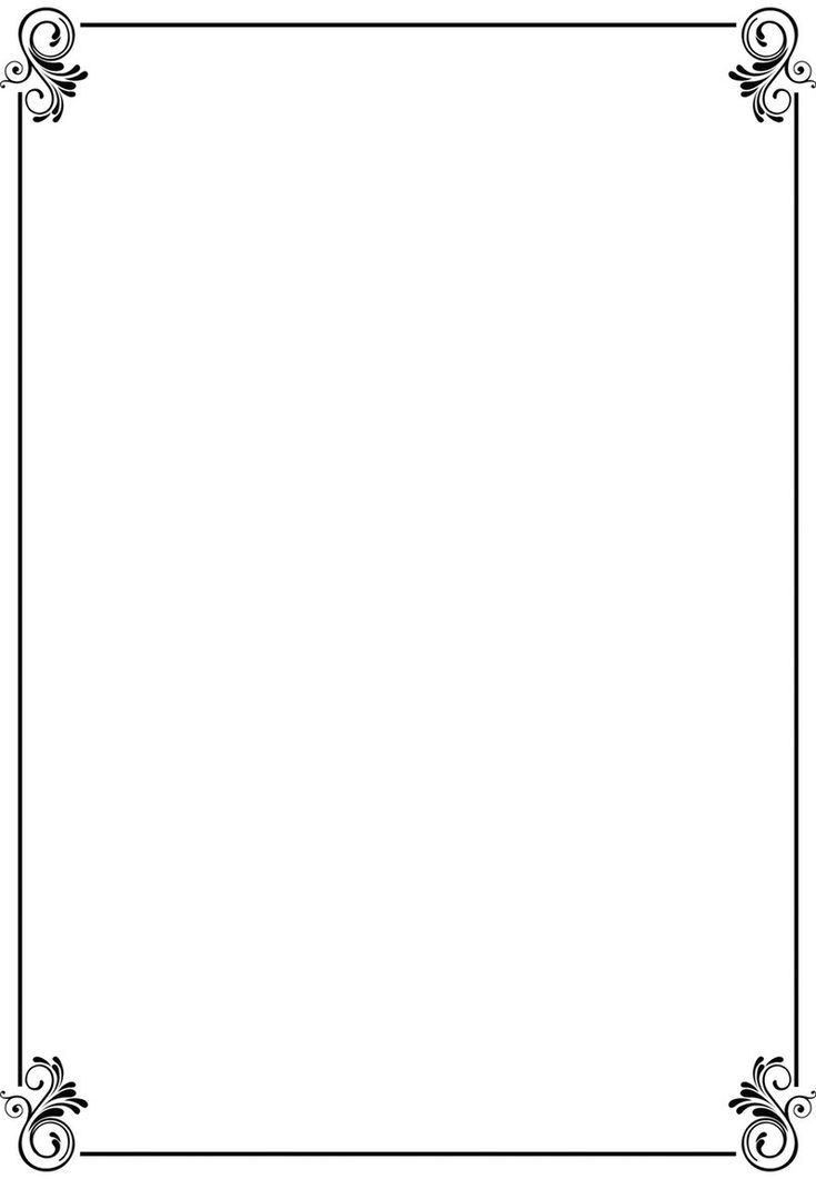 simple border designs for a4 paper clipart best free