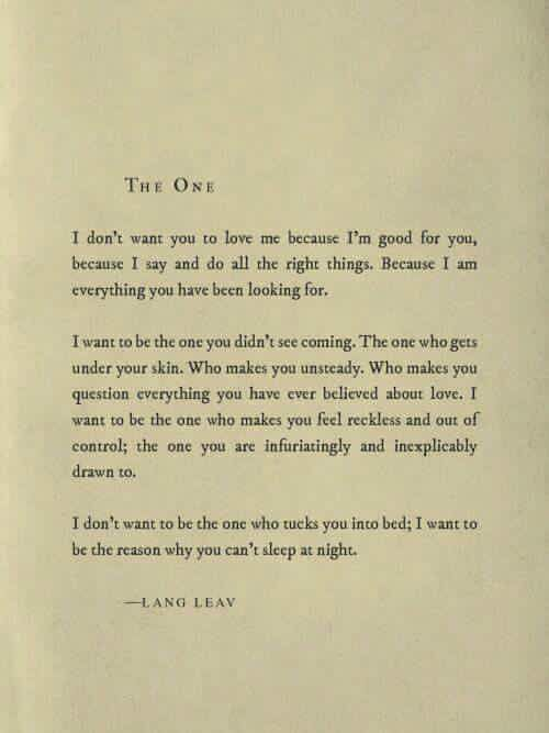 You are the one. Ive lost so much sleep and cried my self to sleep over you. http://itz-my.com