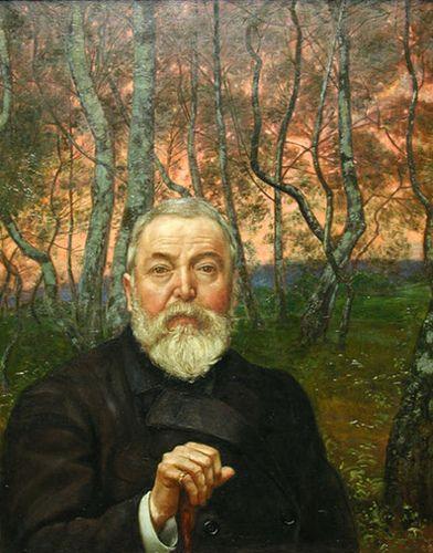 Hans Thoma, Self-Portrait in a Birch Grove, 1899. Stadel Museum, Frankfurt by renzodionigi, via Flickr