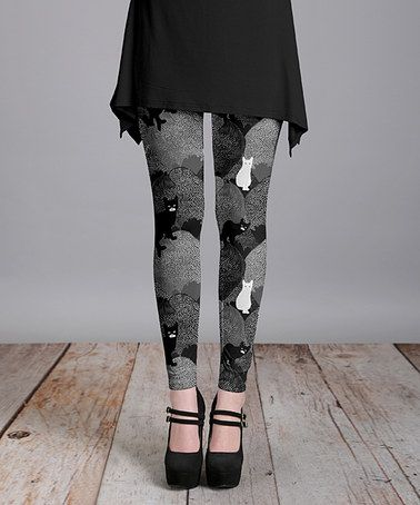 Love this Gray Cat Leggings - Plus Too on #zulily! #zulilyfinds
