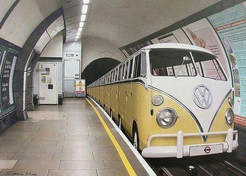 That would be cool...: Buses, London Underground, Old Schools, Vintage, Oldschool, Vw Bus, Vwbus, Vw Vans, Volkswagen