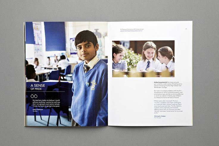 St Thomas of Canterbury School Prospectus - Head Boy - Carr Kamasa Design - London