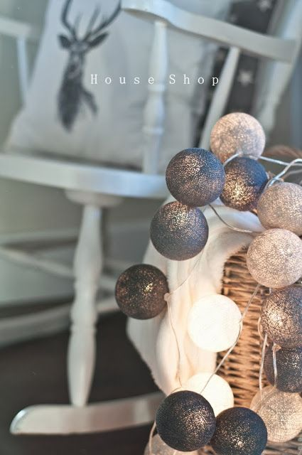 Cotton ball lights. Want, want!!