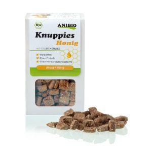 Knuppies Bio Miel, snacks para perros naturales que aportan salud y nutrientes adicionales a tu perro en el día a día. ¡Premia la salud!