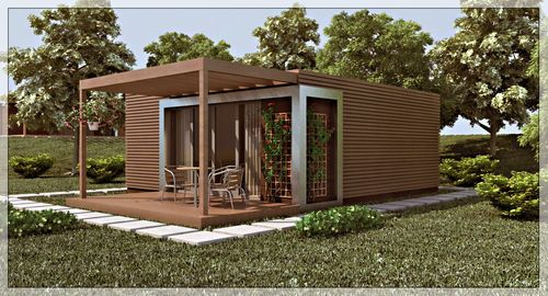 maison préfabriquée contemporaine écologique en bois BORA 36 DELUX Tantdem +++