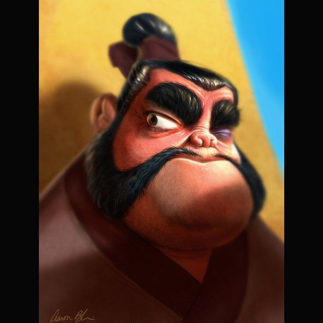 Yao was another character I designed and animated for Disney in the film Mulan. Today I decided to do a Photoshop painting of him. #yao #mulan #disney #animation #traditionalanimation #2Danimation #characterdesign