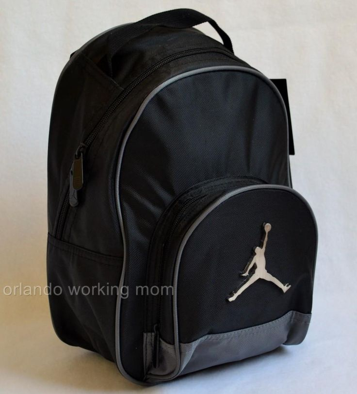 Nike Air Jordan gray and black mini backpack for preschool kids, boys, and girls or toddlers #OrlandoTrend #Nike #Jordan #Backpack