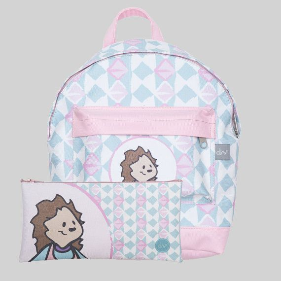Designvonal Hedgehog Toddler Backpack set including backpack and pencil case - kids design