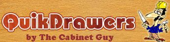(From blog, Sawdust Girl)  QuikDrawers - Your DIY Cabinet Door and Drawer Resource, Custom cabinet doors, replacement cabinet doors, finished or painted cabinet doors,...