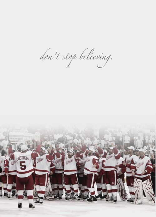 Detroit Red Wings. Hey Hey Hockeytown