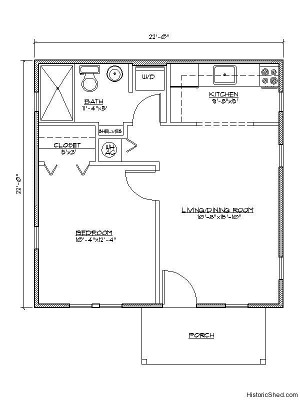 Small Apartment Floor Plans One Bedroom best 25+ guest cottage plans ideas on pinterest | small cottage