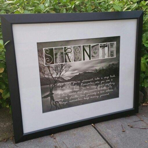 Strength letter art sign