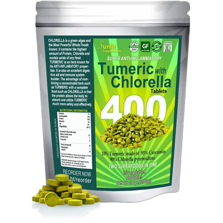 Sunlit Chlorella w/ Turmeric Tablets. Superfood supplement combines Organic raw non-GMO Chlorella Pyrensoidosa with Turmeric root (95% Concentrated Curcumin). No fillers no preservatives. >>> You can get more details by clicking on the image.