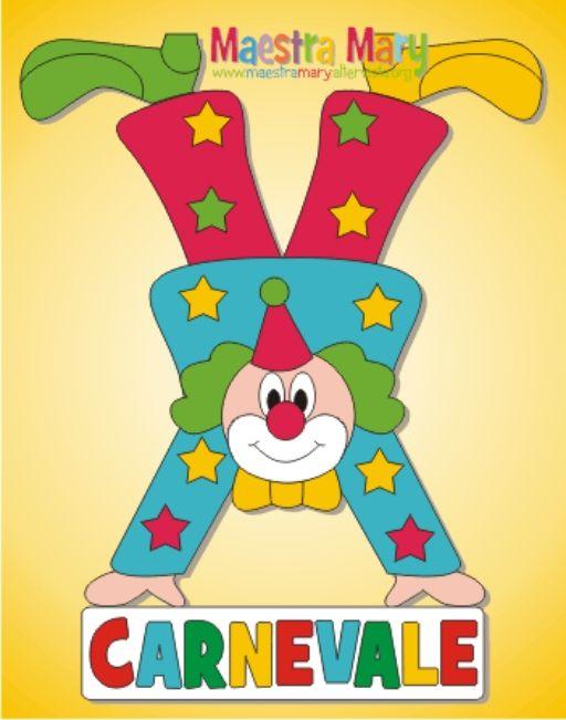 Carnevale Pagliaccio Da Ritagliare Carnevale Carnevale