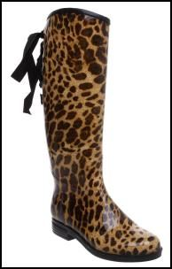 Animal Print Wellington Boots
