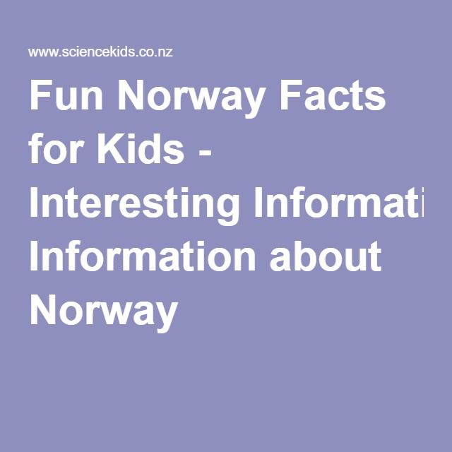 Fun Norway Facts for Kids - Interesting Information about Norway