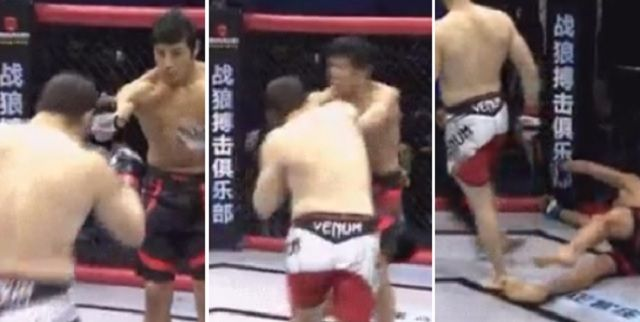 Jerk MMA Fighter Fakes Friendly Glove Tap During Fight And Proceeds To KO His Opponent In Three Seconds