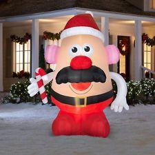 $100.00 ebay HUGE 8.9 FT PLAYSKOOL MR POTATO HEAD SANTA Christmas Airblown Inflatable Gemmy
