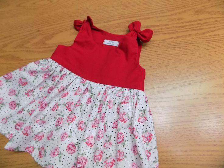 Vestito ragazza rosso , abito bimba, abito da spiaggia,vestito estate,Bayby Girl Dress,vestito casa ,abito neonato,regalo estate bimba di MAQUELLA su Etsy