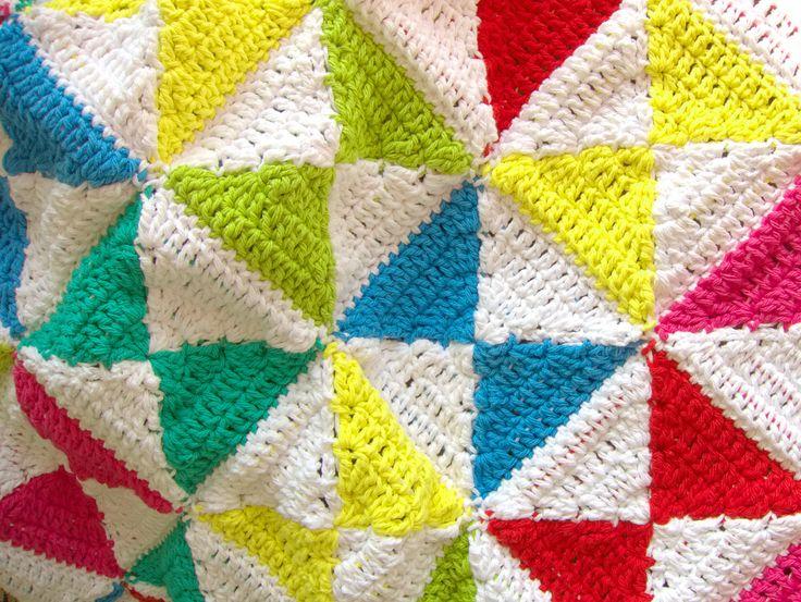 Crochet Pattern - Bright Kites Baby Play Mat, Baby Blanket - PDF Baby Blanket Crochet Pattern by WoolnHook on Etsy