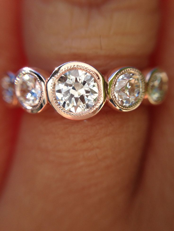 LoveAffairDiamonds - SOLD!  1.38ctw Old European Cut Diamond 5-Stone Band in Sholdt R-560, $3,150.00 (http://www.loveaffairdiamonds.com/sold-1-38ctw-old-european-cut-diamond-5-stone-band-in-sholdt-r-560/)