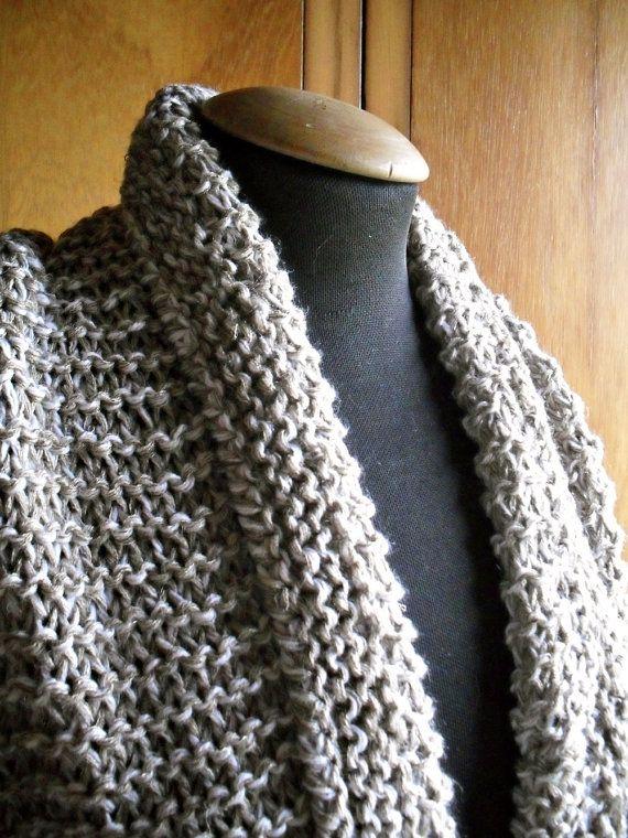 sciarpa ad anello in lana scialle fatta a maglia di lazydesigner