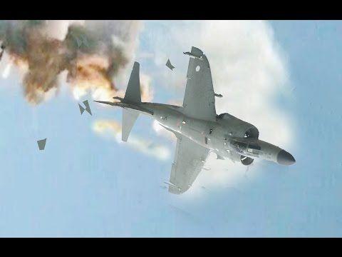 Sea Harrier Derribado con 7 Disparos - Guerra de las Malvinas - YouTube