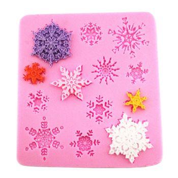 1 stuks 3d christmas sneeuwvlok vorm silicone zeep mallen mal chocolade snoep mal bakken tools voor gebak taart decoreren gereedschappen