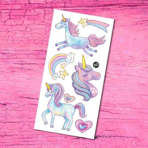 Unicorn - Temporary Tattoos Les mignonnes licornes - Tatouages Temporaires