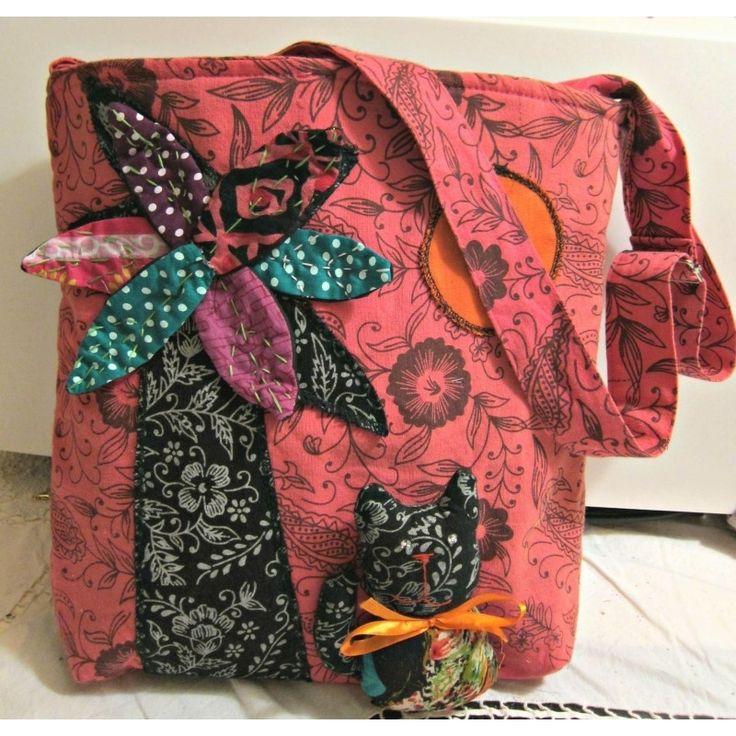 Τσάντα με Αpplique σχέδιο - RiRi Yfasma (RiRiYfasma.gr)