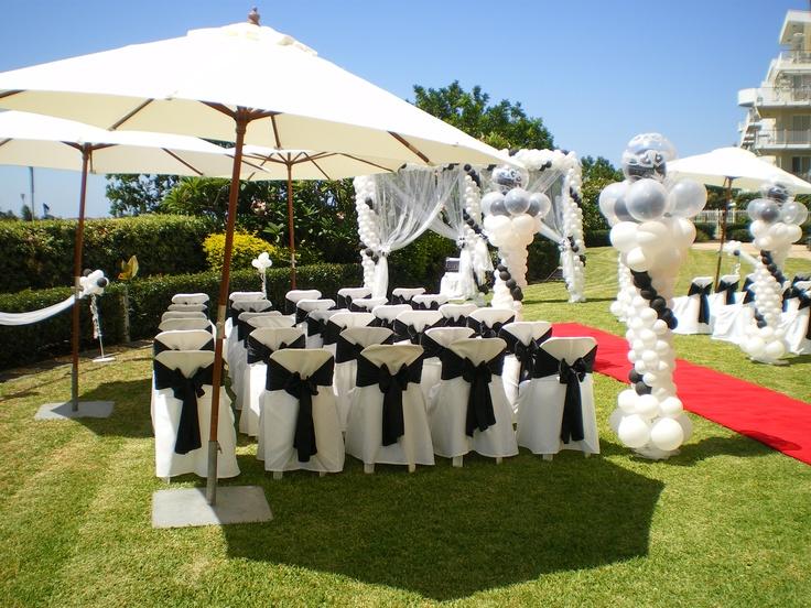 #balloons #umbrella #weddingceremony