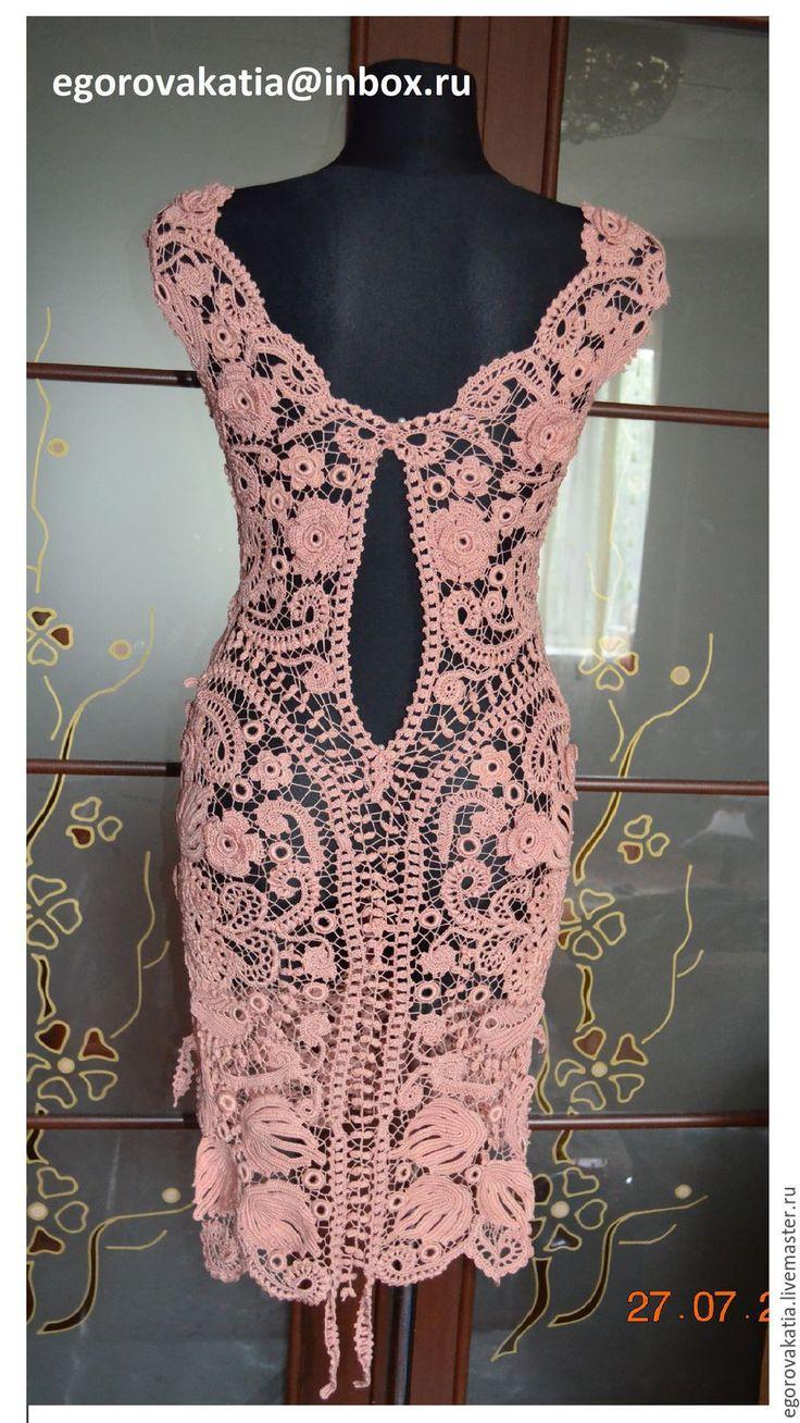 """Купить платье """"Rose Quartz""""- из коллекции """"французские кружева"""" - бежевый, платье, вязаное платье"""