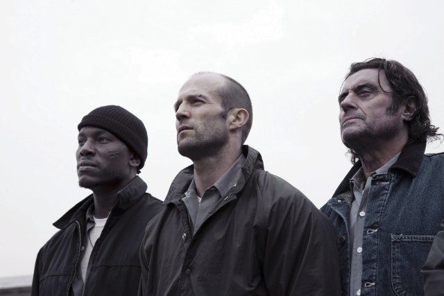 Still of Jason Statham, Ian McShane and Tyrese Gibson in Death Race