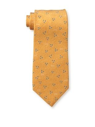 Bvlgari Men's Triple Dot Tie, Orange