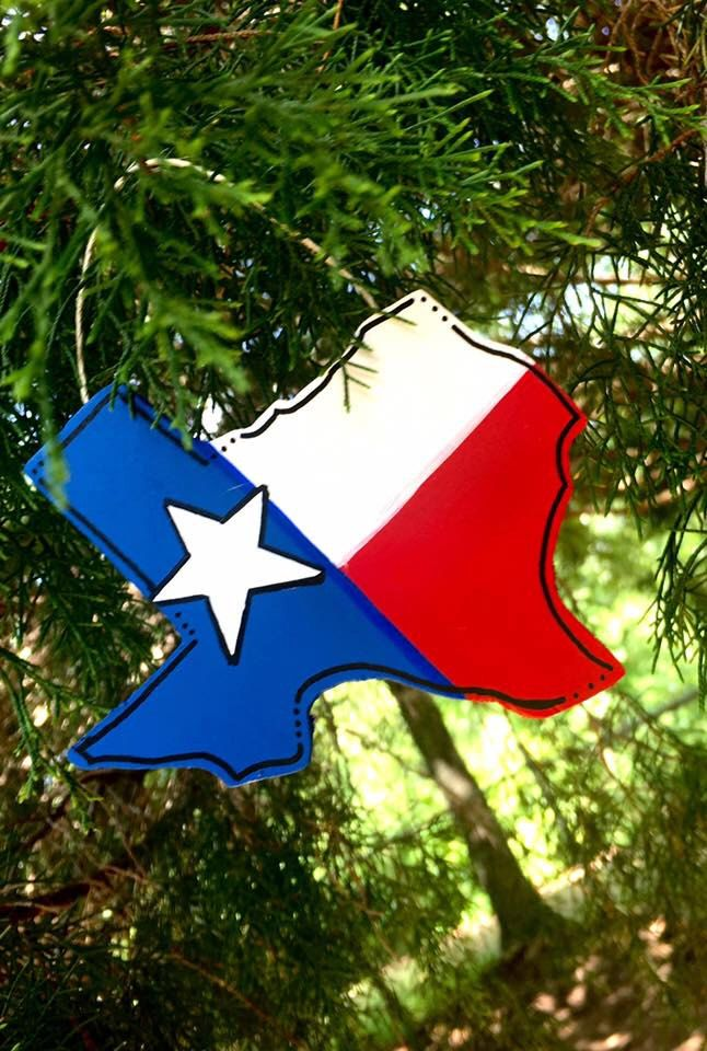 Texas Ornaments - Wooden Ornaments - Texas Gifts by LBWoodenSigns on Etsy https://www.etsy.com/listing/451937332/texas-ornaments-wooden-ornaments-texas