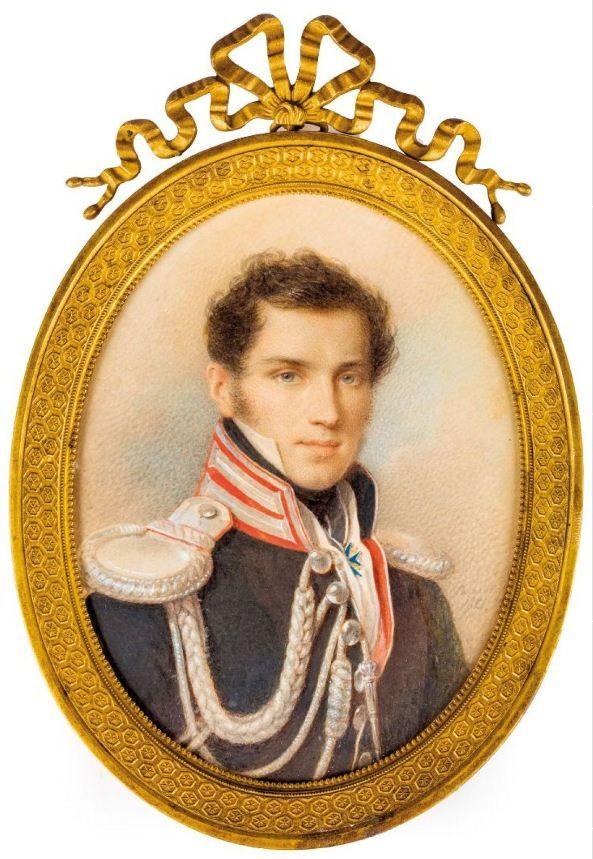 Петр Соколов Портрет Сергея Петровича Ланского 1821.