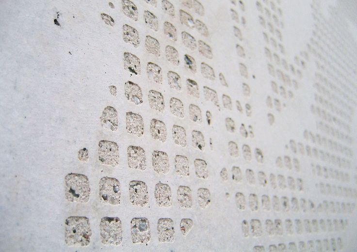 Pattern: Grass. Helsingin Siluetti and Helsingin Akvarelli, Helsinki, Finland 2008 (housing). Architecture by B&M Architects, prefabrication by Pikon Betoni Oy.