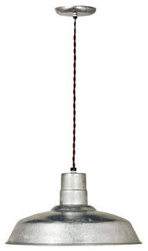 Industrial Twist Cord Warehouse Pendant - eclectic - pendant lighting - other metro - Barn Light Electric Company
