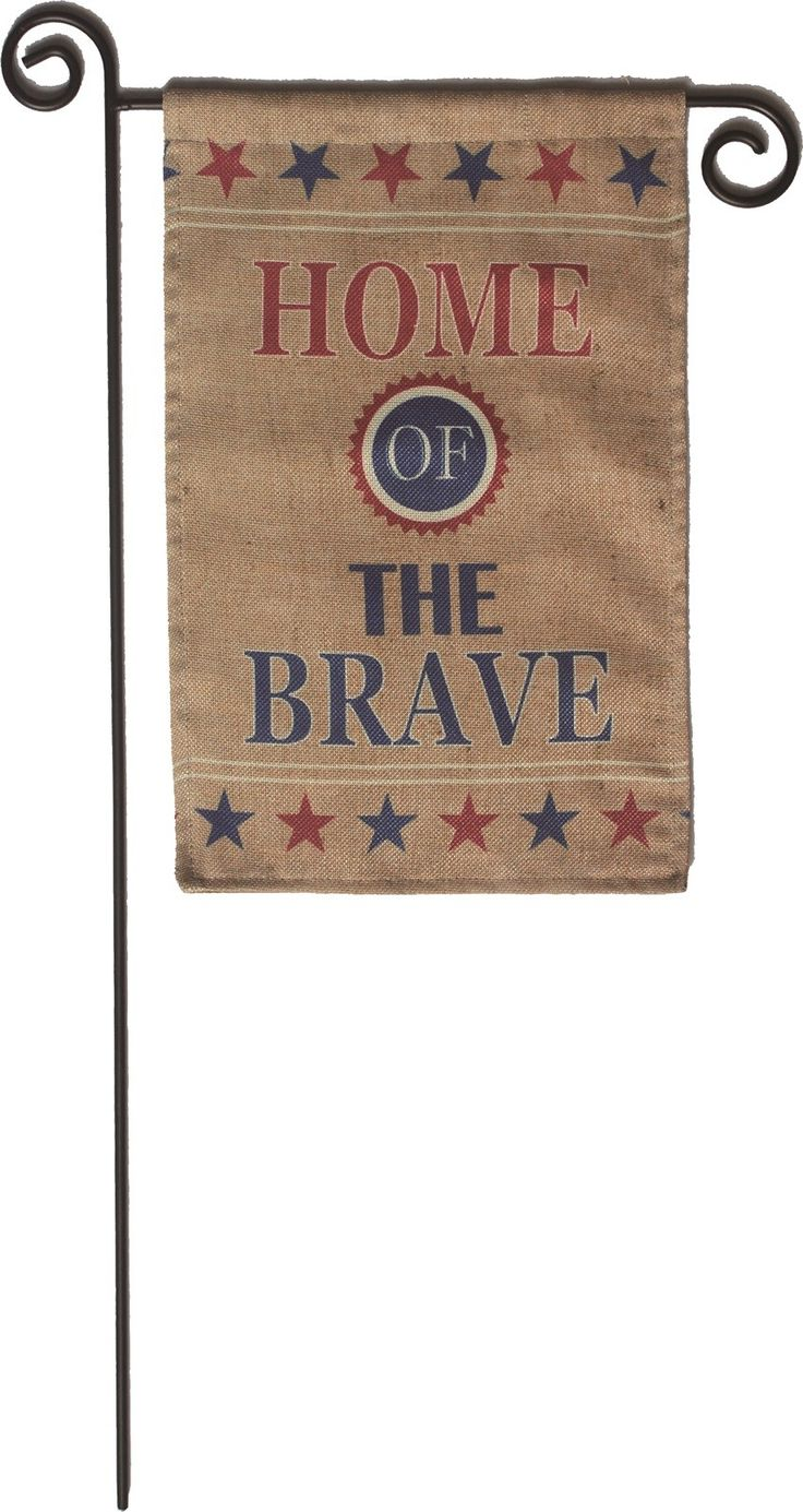 Americana Burlap Garden Flag