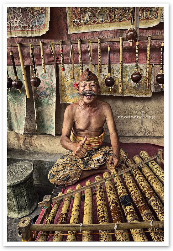Old Musician in Bali