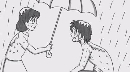 涙なしには見る事ができない、鉄拳によるパラパラ漫画『 約束 』