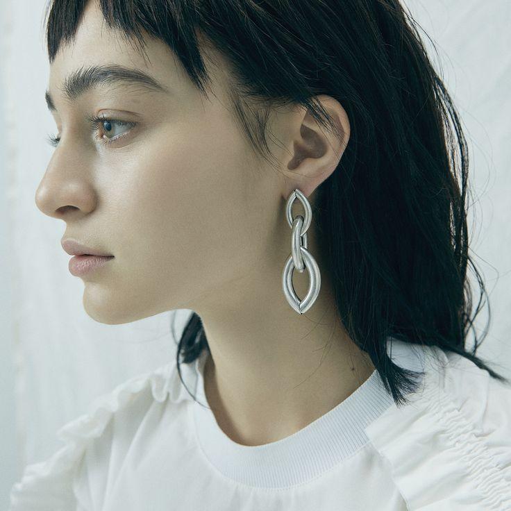 Sloane Earrings by Jenny Bird in Oxidized Silver