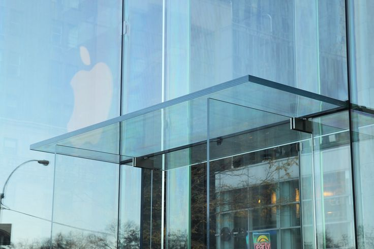 Apple Store Fifth Avenue Nyc Glass Fin Glass Block