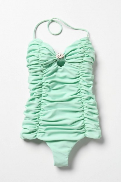 This swimsuit's color could not be more perfect!