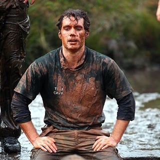 Henry Cavill gets dirty for the @RMCdoChallenge yesterday.  Photos via Apex.  Read more: http://m.exeterexpressandecho.co.uk/superman-star-henry-cavill-braves-east-devon-s-commando-challenge-photos/story-29791654-detail/story.html