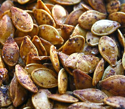 Toasted Pumpkin Seeds- Two Ways, Savory ( Pepper/Garlic) and Sweet (Cinnamon Sugar with Apple Cider!)