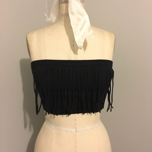 Urban Outfitters Fringed Bandeaux Top Super Fun! Would be great for a music festival! Brand new, never been worn. Urban Outfitters Tops Crop Tops