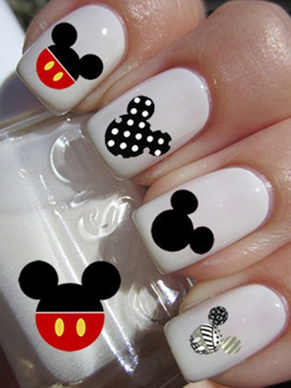 23 Mickey Mouse Nail Transfer Decals Art Sticker